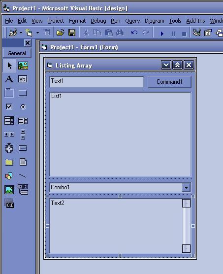 Tampilan Design Menggunakan VB 6.0